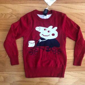 NWT Red Peppa Pig sweater